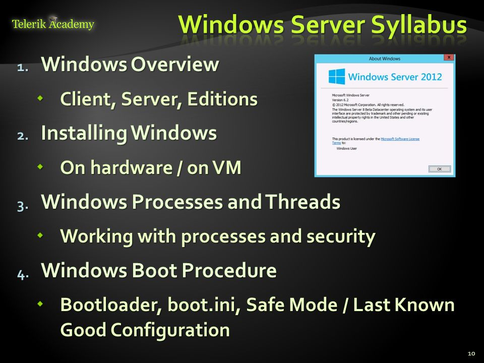 Windows Server Syllabus