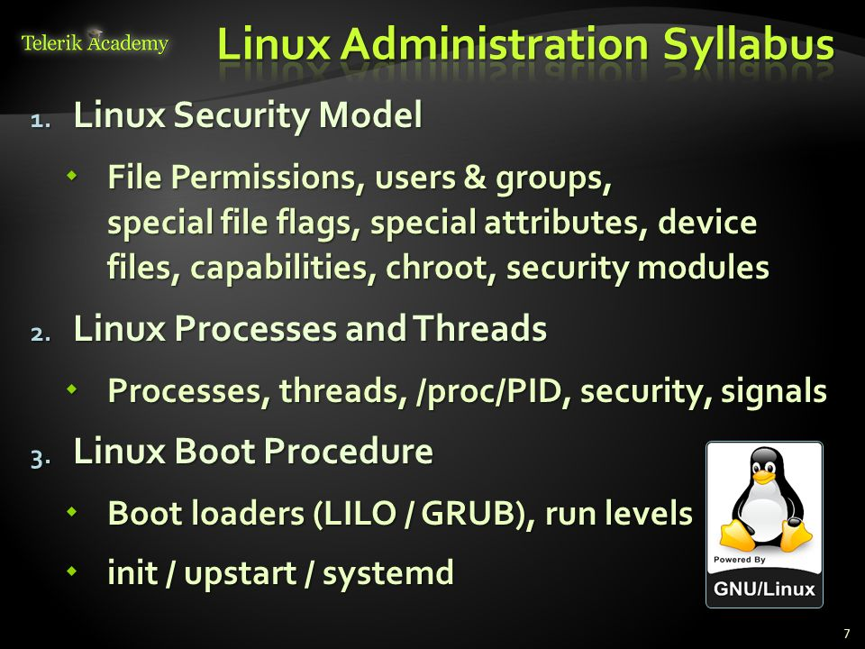 Linux Administration Syllabus