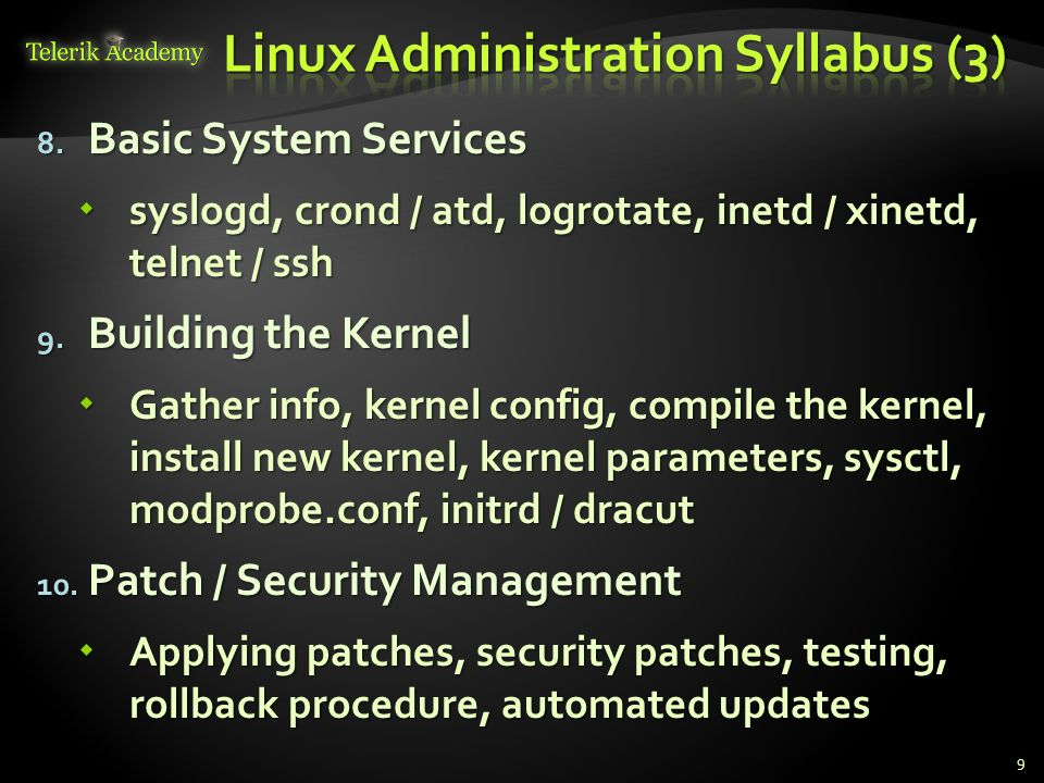 Linux Administration Syllabus (3)