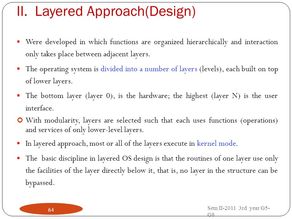 Layered Approach(Design)