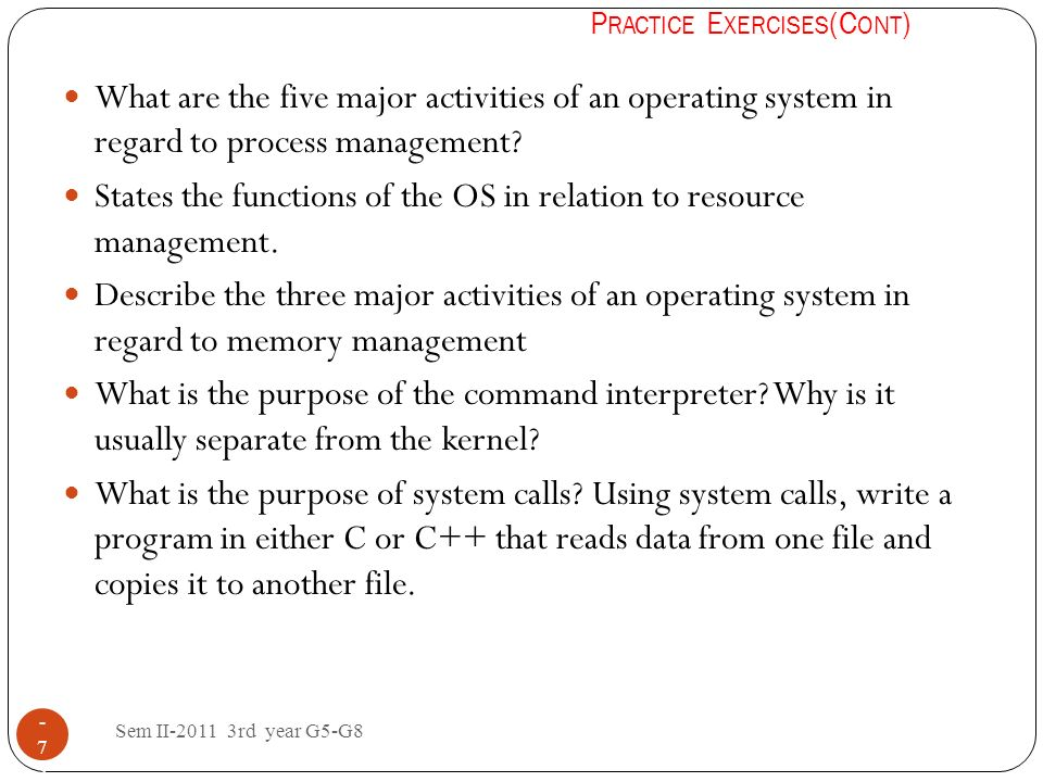 States the functions of the OS in relation to resource management.