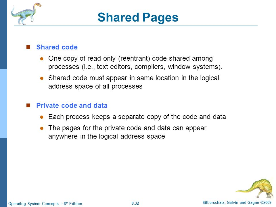 Shared Pages Shared code