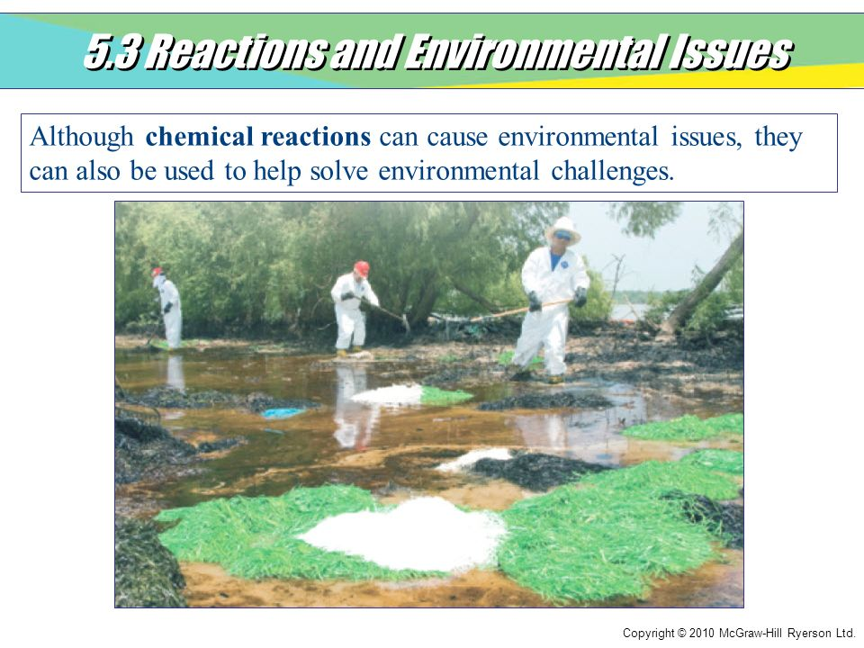5.3 Reactions and Environmental Issues