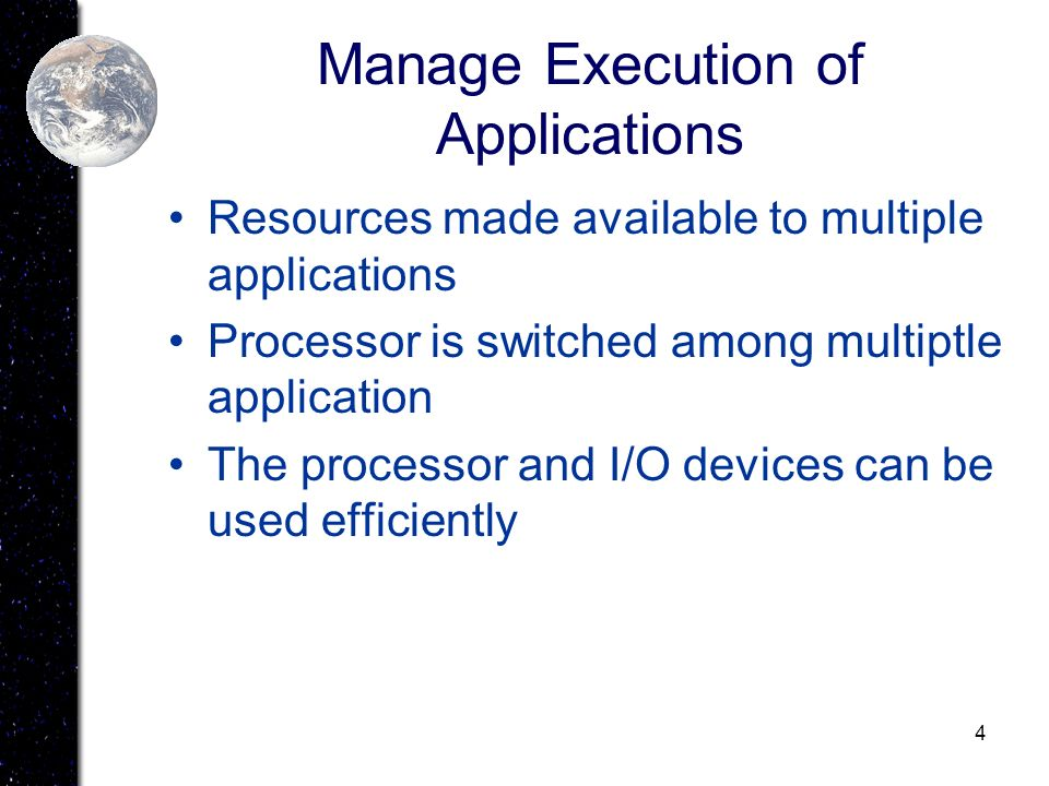 Manage Execution of Applications