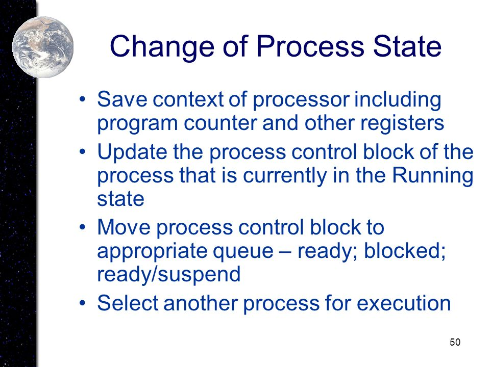 Change of Process State