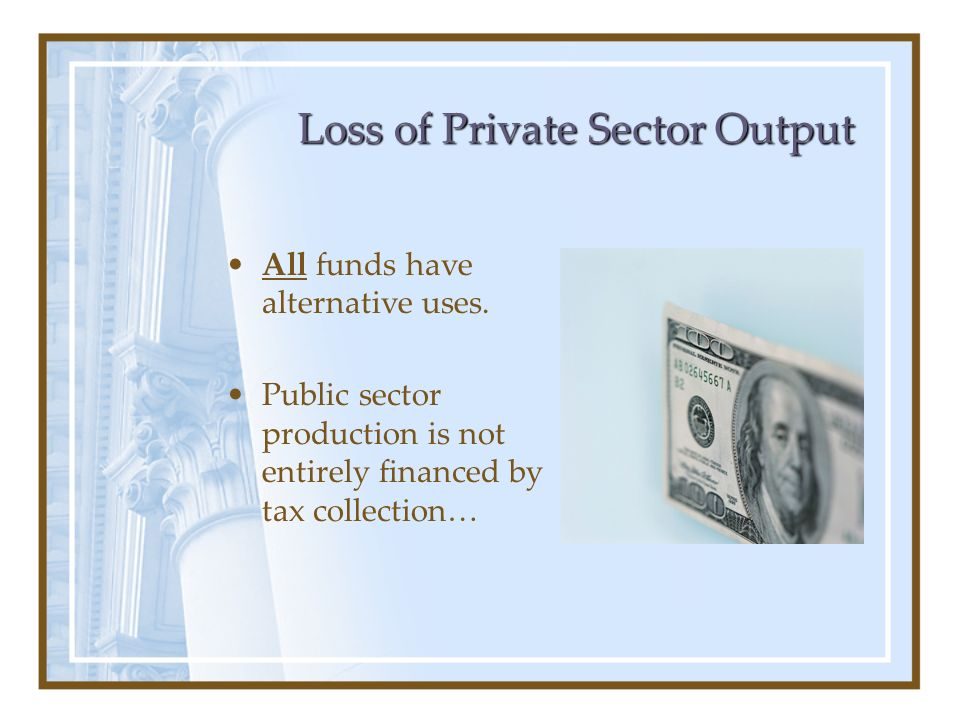 Loss of Private Sector Output
