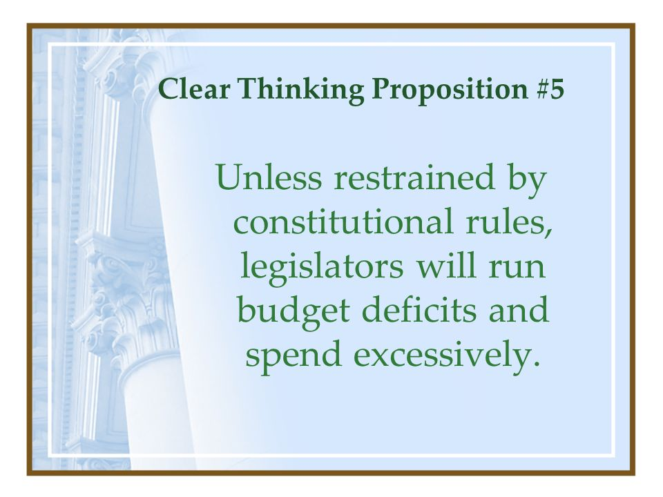 Clear Thinking Proposition #5