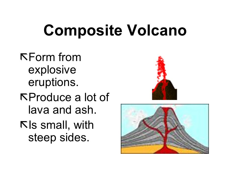Composite Volcano Form from explosive eruptions.