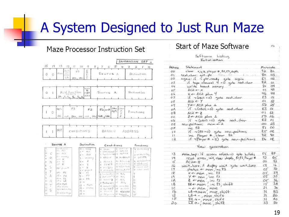 A System Designed to Just Run Maze