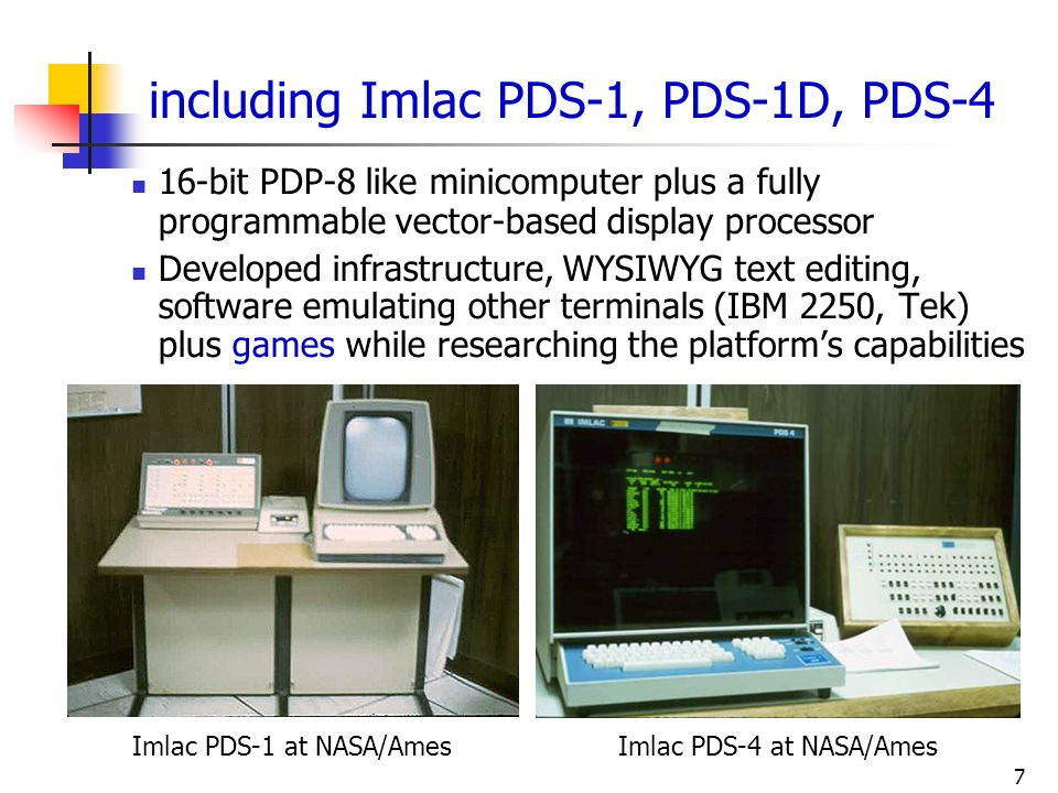 including Imlac PDS-1, PDS-1D, PDS-4