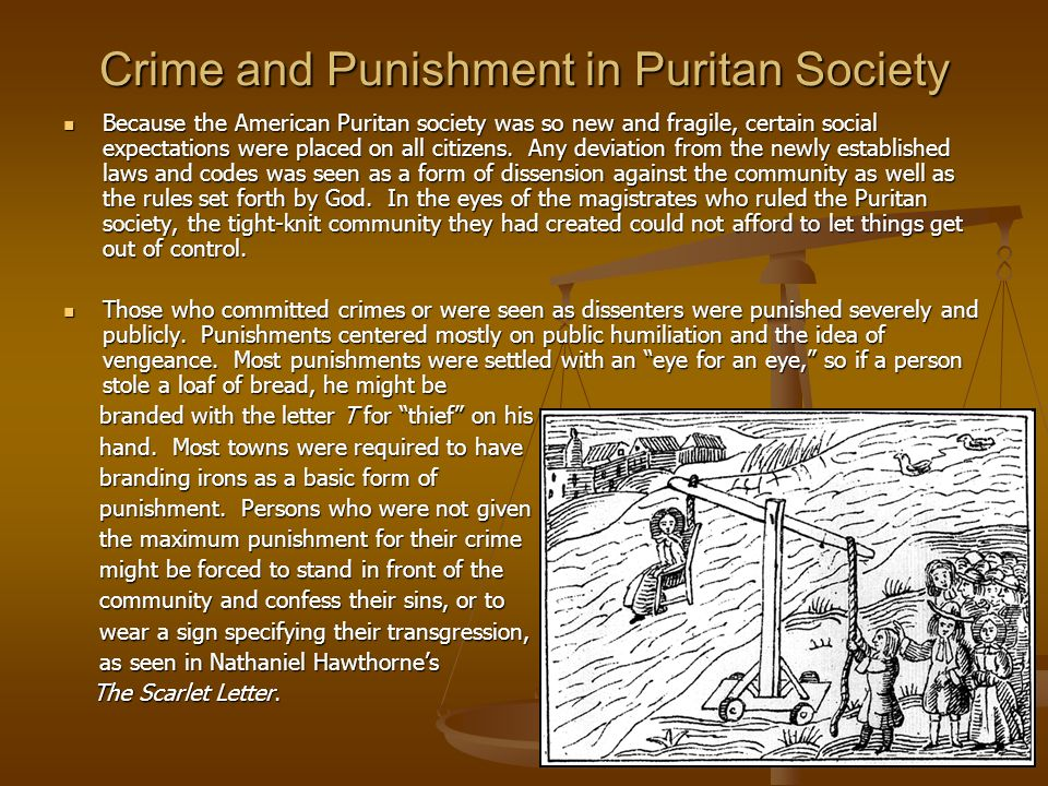 Crime and Punishment in Puritan Society
