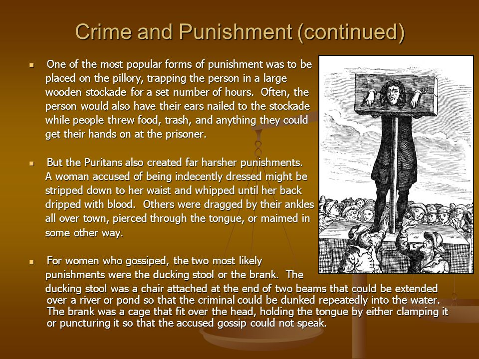 Crime and Punishment (continued)