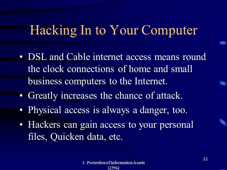 Hacking In to Your Computer