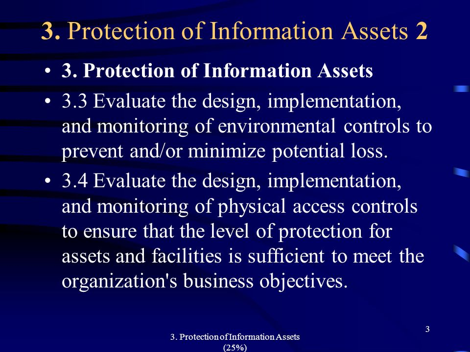 3. Protection of Information Assets 2