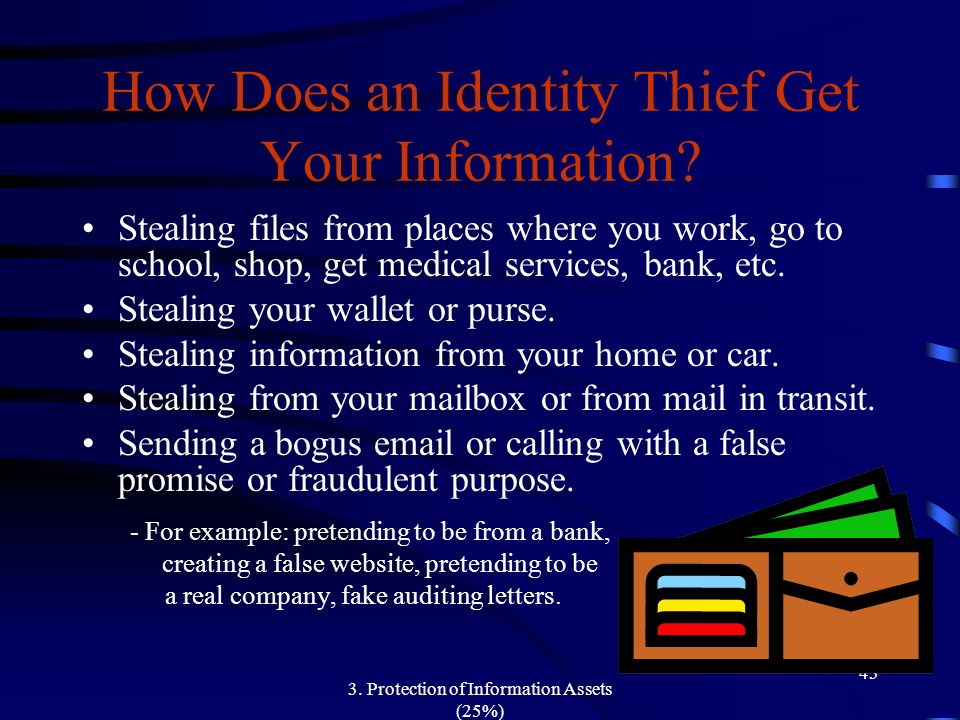 How Does an Identity Thief Get Your Information