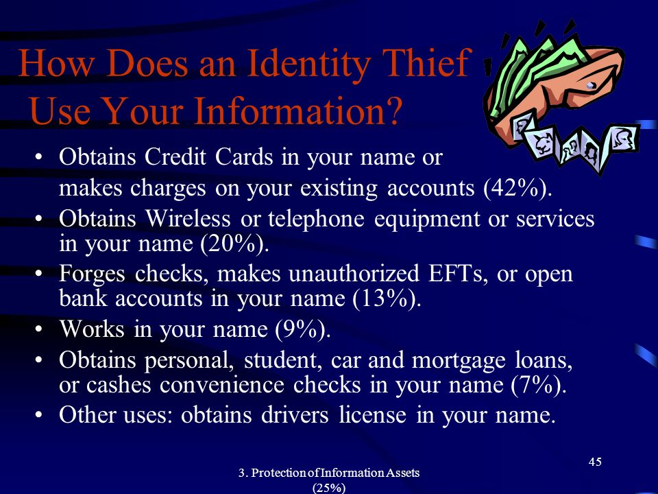 How Does an Identity Thief Use Your Information