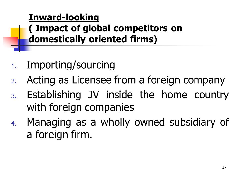 Acting as Licensee from a foreign company