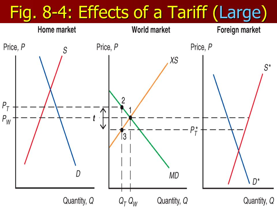 Fig. 8-4: Effects of a Tariff (Large)