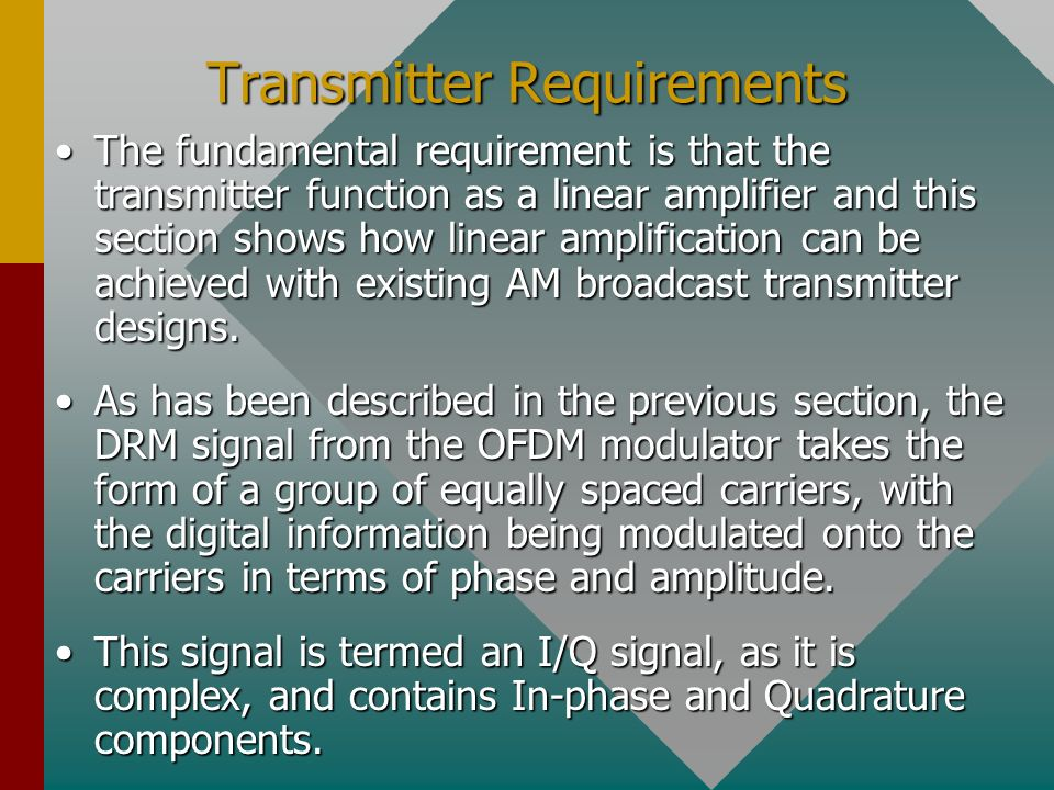 Transmitter Requirements