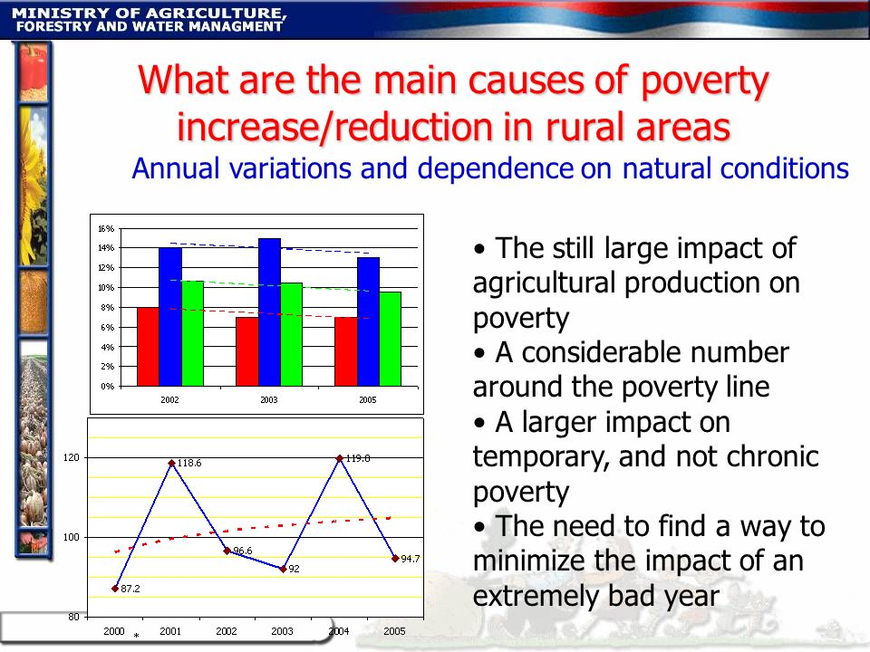 What are the main causes of poverty increase/reduction in rural areas