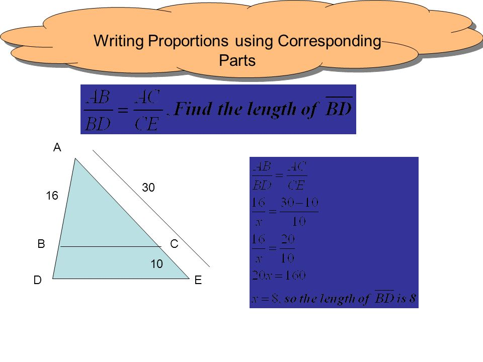 Writing Proportions using Corresponding Parts