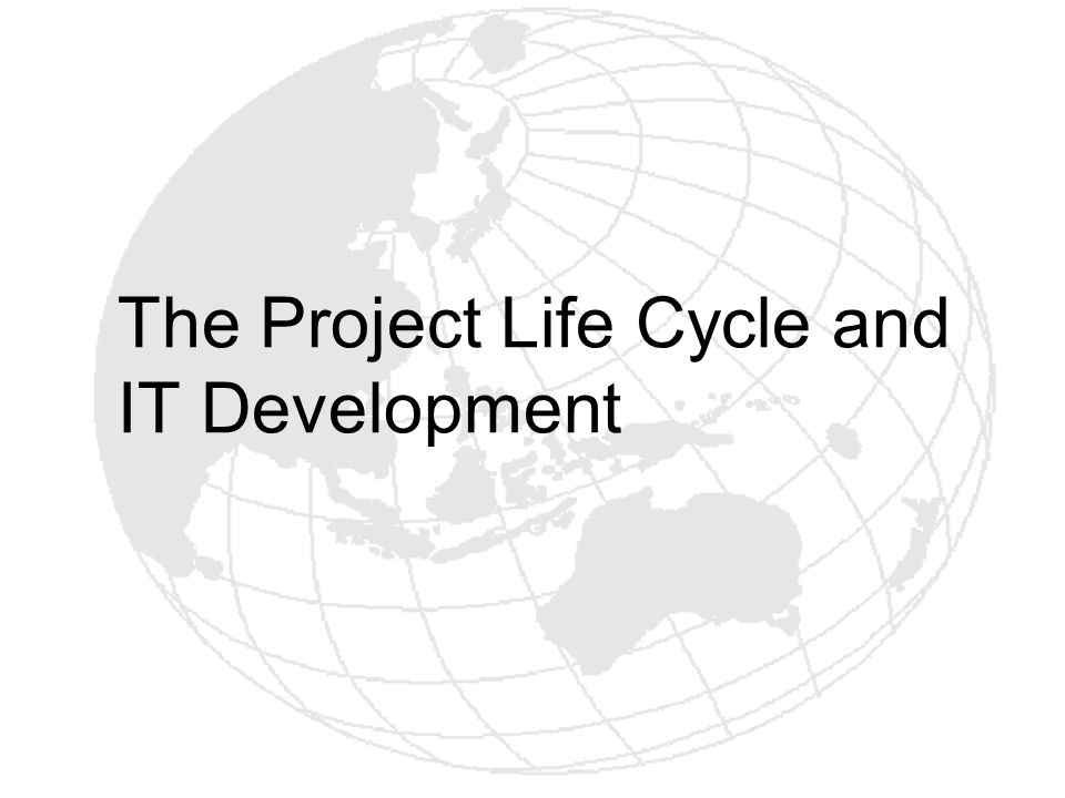 The Project Life Cycle and IT Development