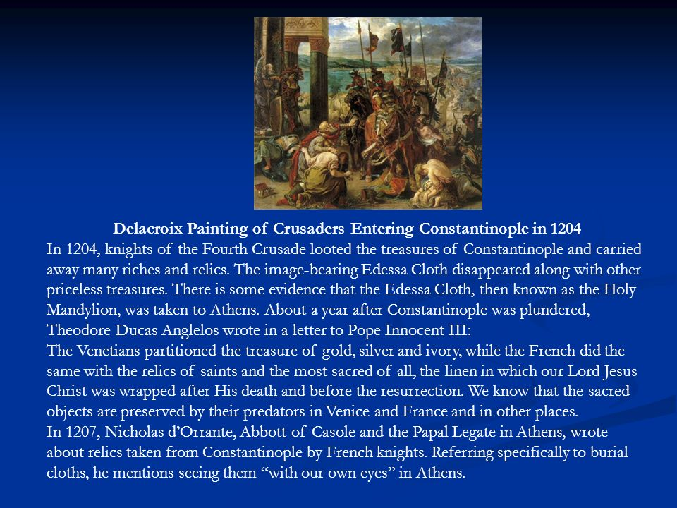Delacroix Painting of Crusaders Entering Constantinople in 1204