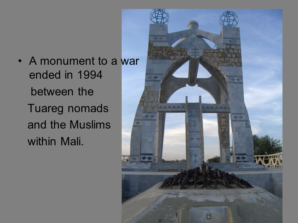 A monument to a war ended in 1994