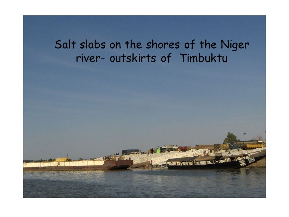Salt slabs on the shores of the Niger river- outskirts of Timbuktu