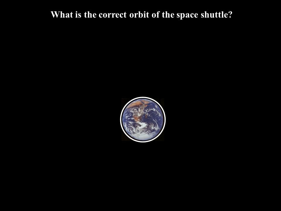 What is the correct orbit of the space shuttle
