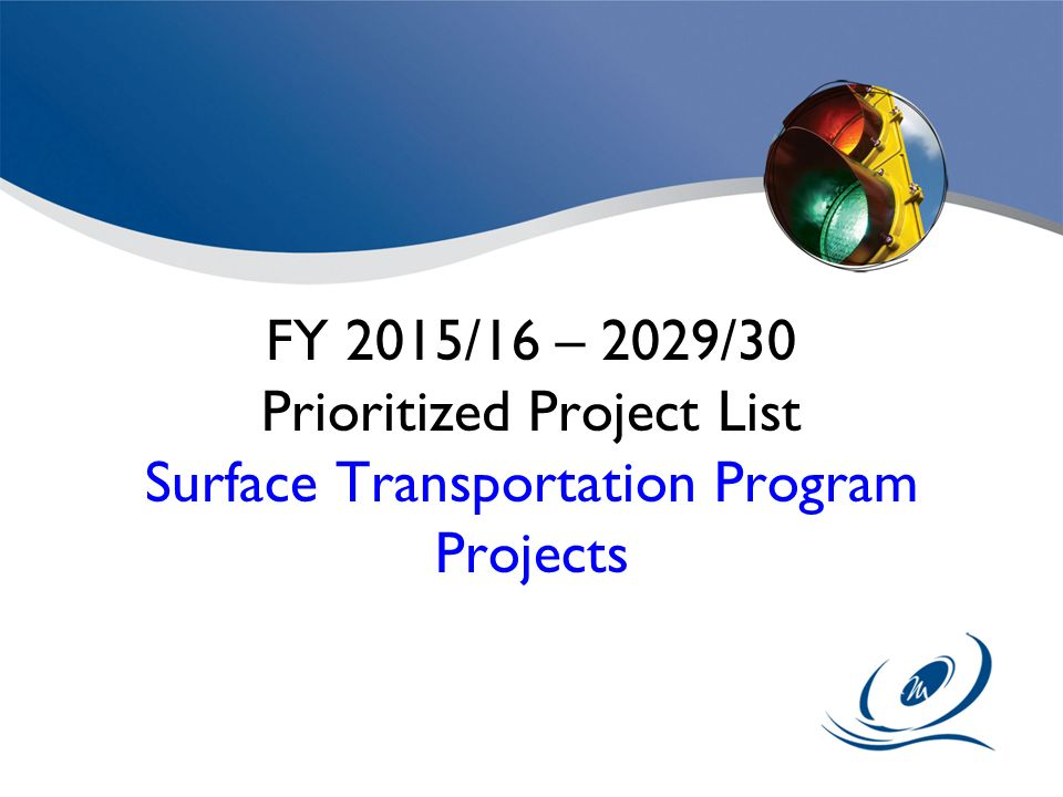 Prioritized Project List Surface Transportation Program Projects