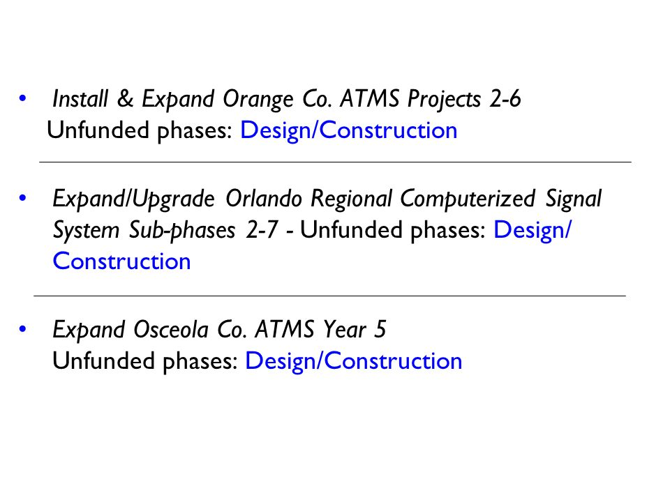 Install & Expand Orange Co. ATMS Projects 2-6