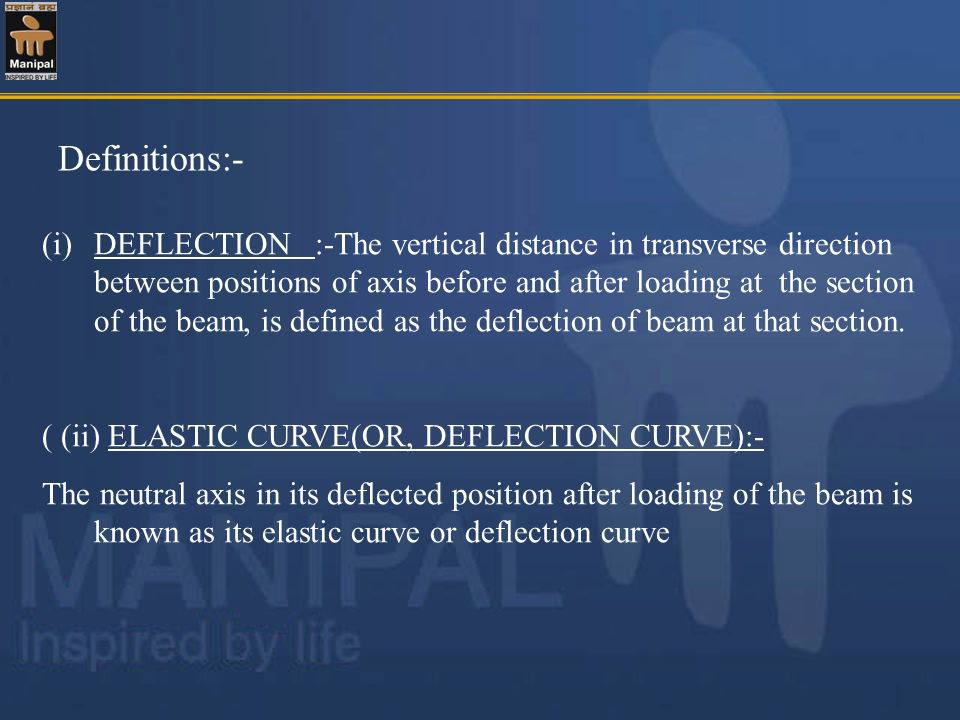 Definitions:-