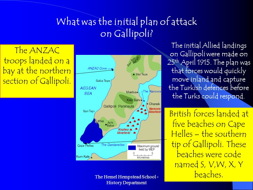 What was the initial plan of attack on Gallipoli