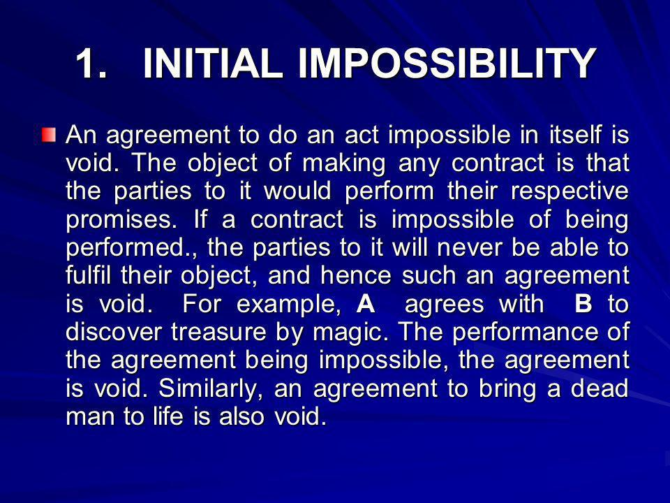1. INITIAL IMPOSSIBILITY