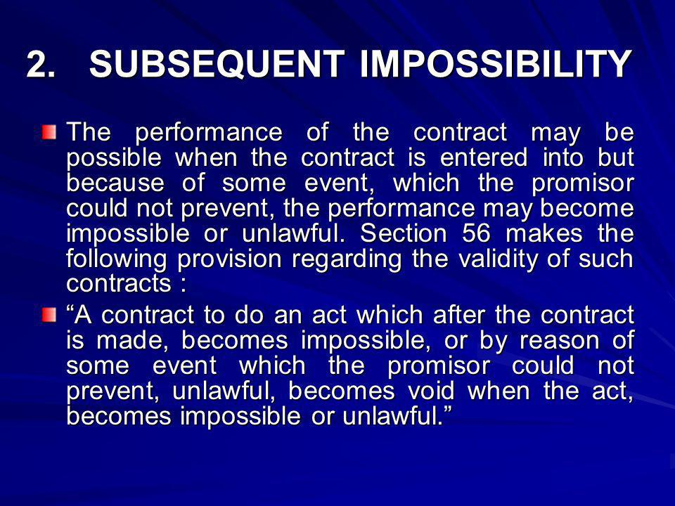 2. SUBSEQUENT IMPOSSIBILITY