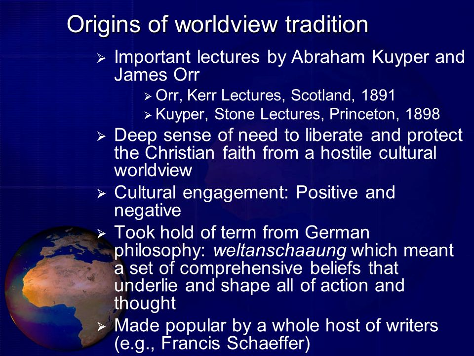 Origins of worldview tradition