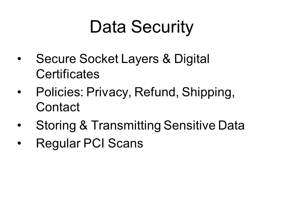 Data Security Secure Socket Layers & Digital Certificates