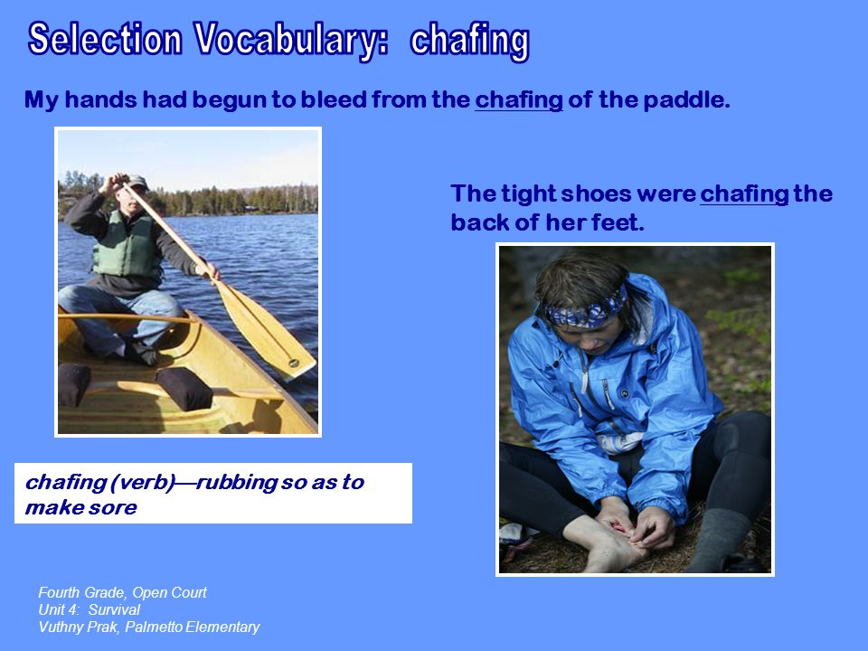 Selection Vocabulary: chafing