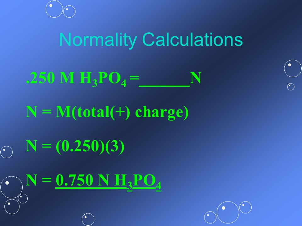 Normality Calculations