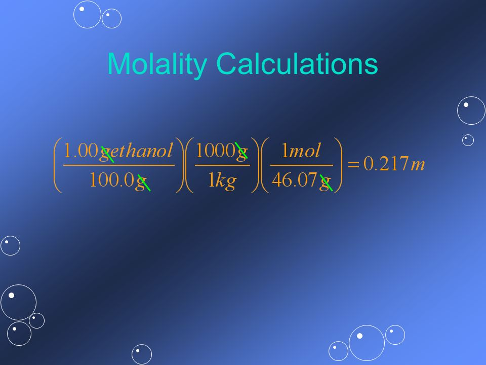 Molality Calculations
