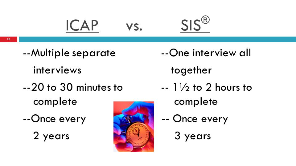 DIDD Provider Training: THE SIS® Assessment - ppt download