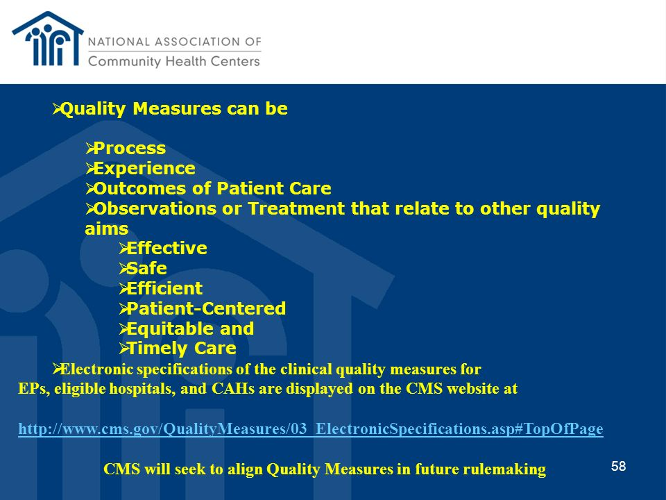 CMS will seek to align Quality Measures in future rulemaking