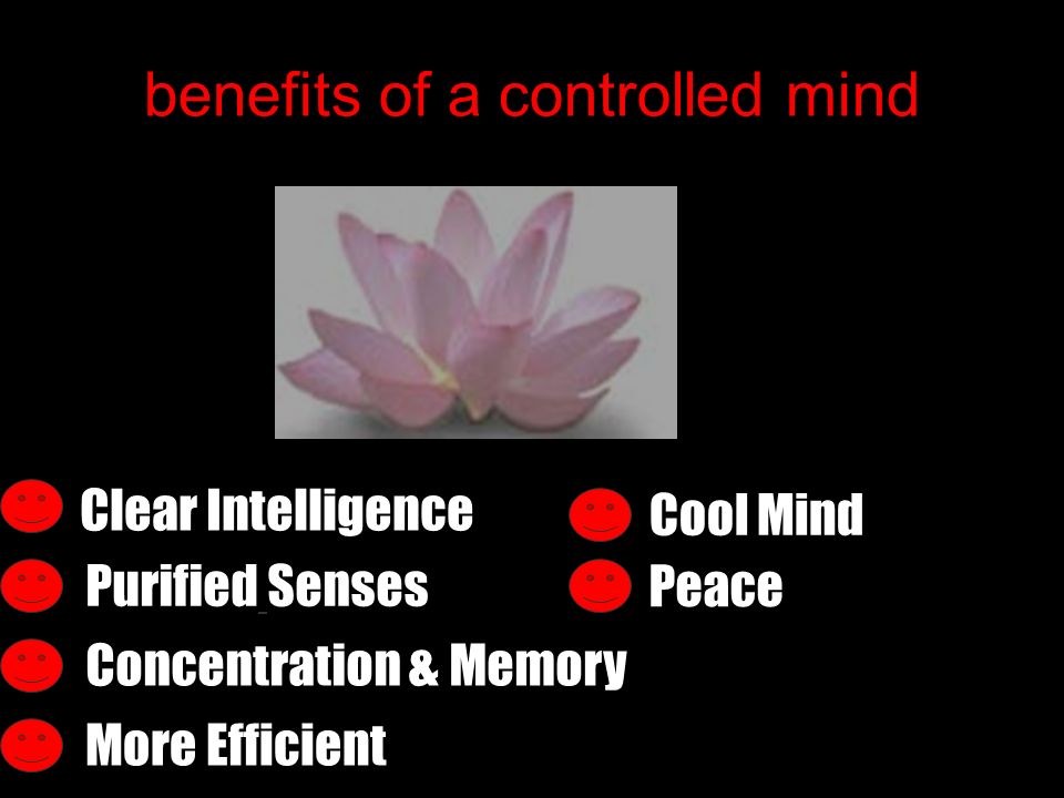 benefits of a controlled mind