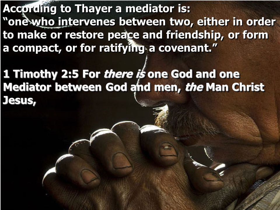 According to Thayer a mediator is: