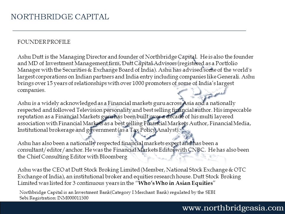 NORTHBRIDGE CAPITAL FOUNDER PROFILE