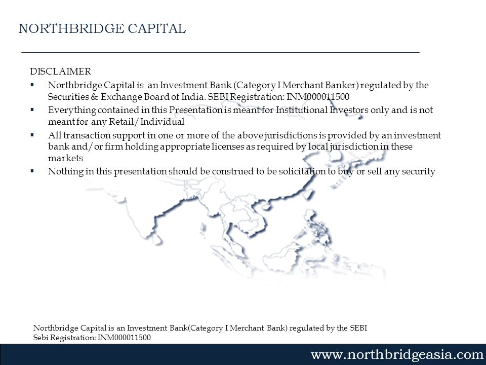 NORTHBRIDGE CAPITAL DISCLAIMER