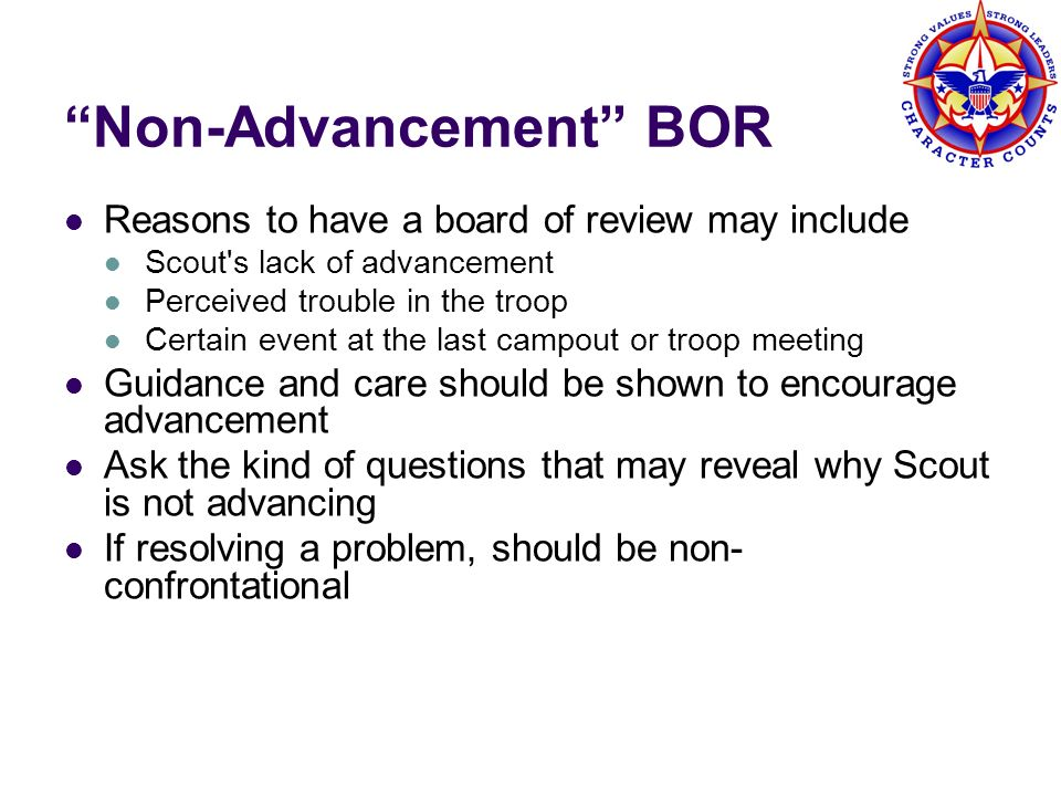 Non-Advancement BOR