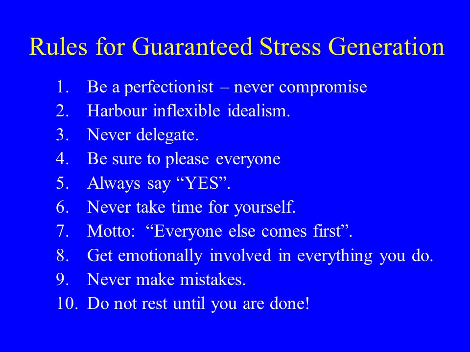 Rules for Guaranteed Stress Generation