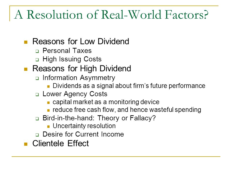 A Resolution of Real-World Factors